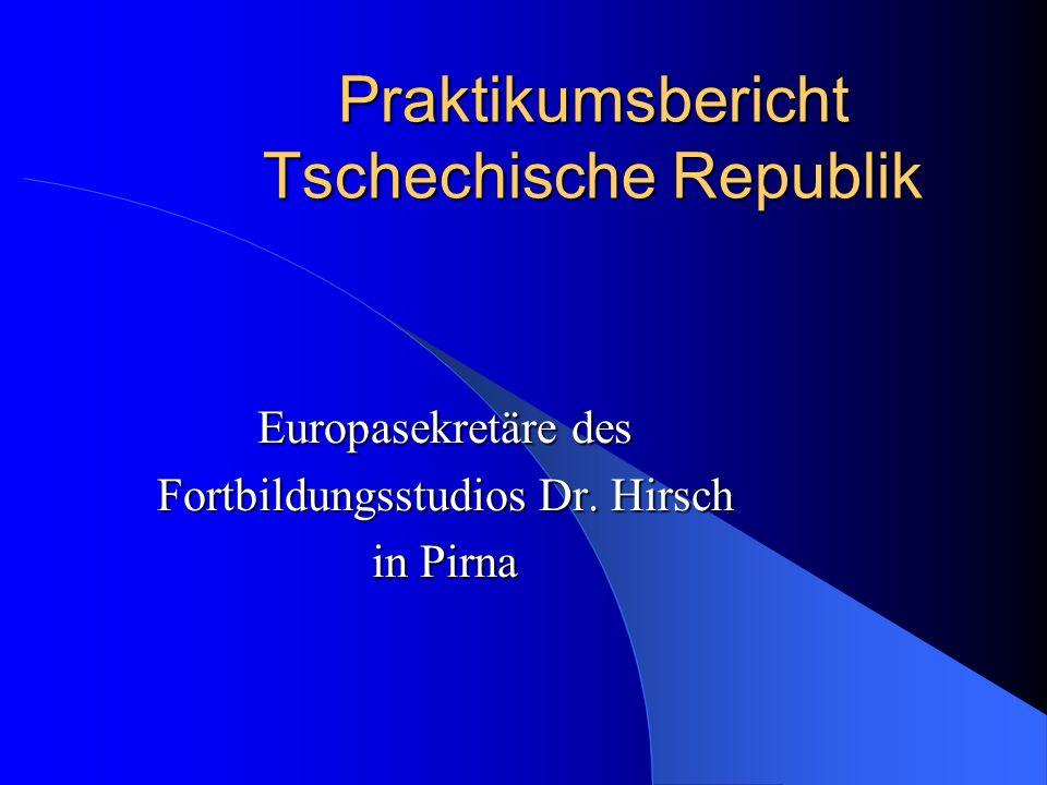 Praktikumsbericht Tschechische Republik