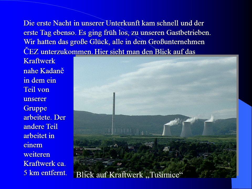 "Blick auf Kraftwerk ""Tušimice"