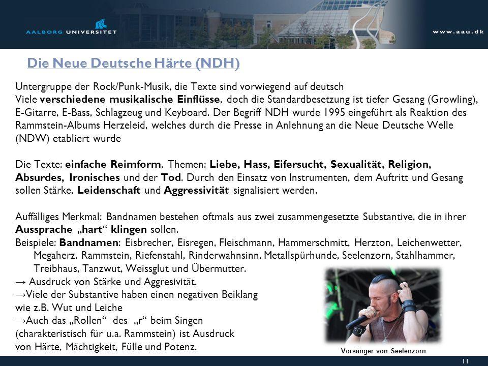 Die Neue Deutsche Härte (NDH)