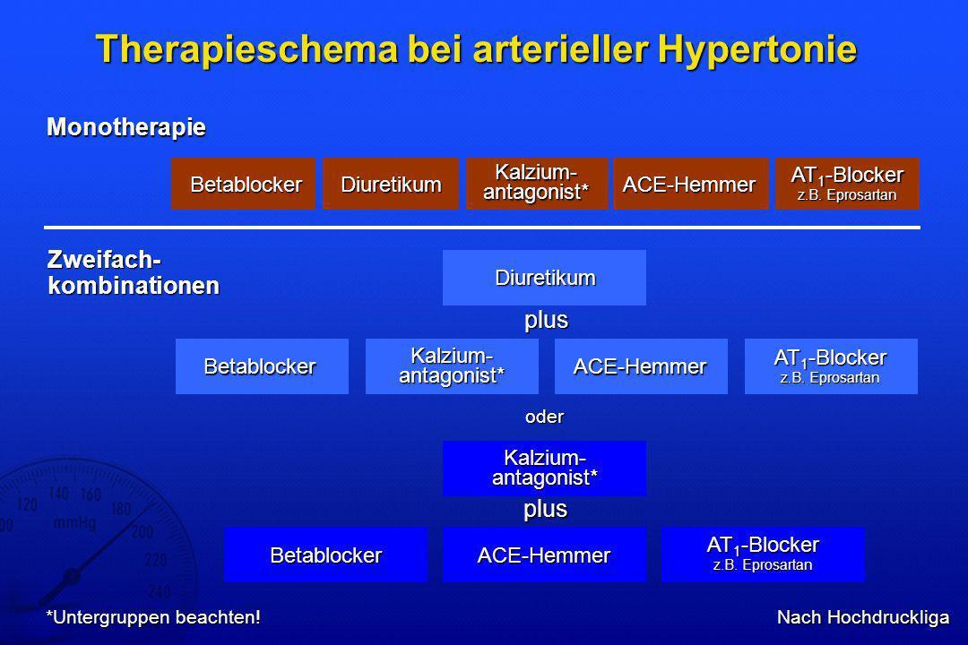 Therapieschema bei arterieller Hypertonie