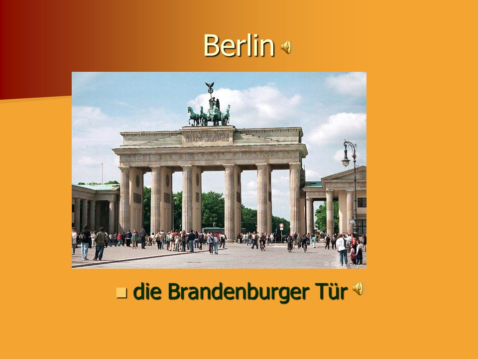 Berlin The Brandenburg Gate die Brandenburger Tür