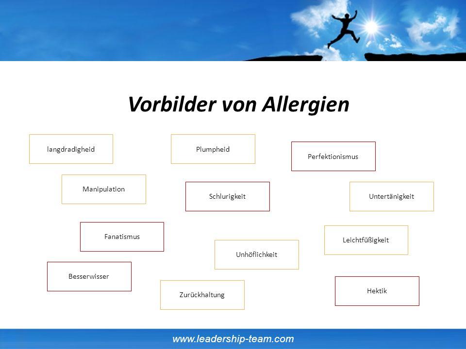 Vorbilder von Allergien