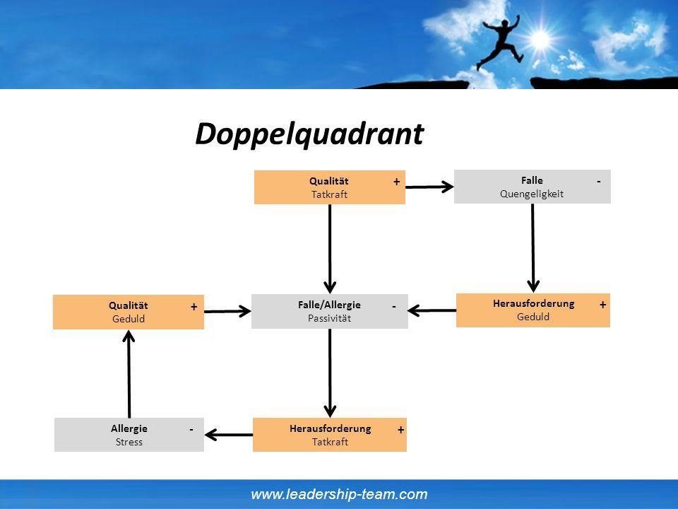 Doppelquadrant + - + - + - + Qualität Tatkraft Falle Quengeligkeit