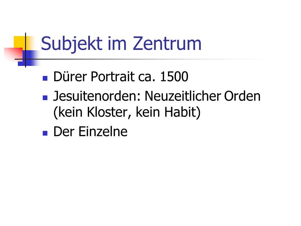 Subjekt im Zentrum Dürer Portrait ca. 1500