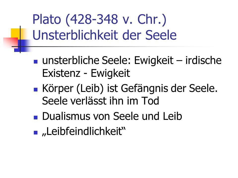 Plato (428-348 v. Chr.) Unsterblichkeit der Seele