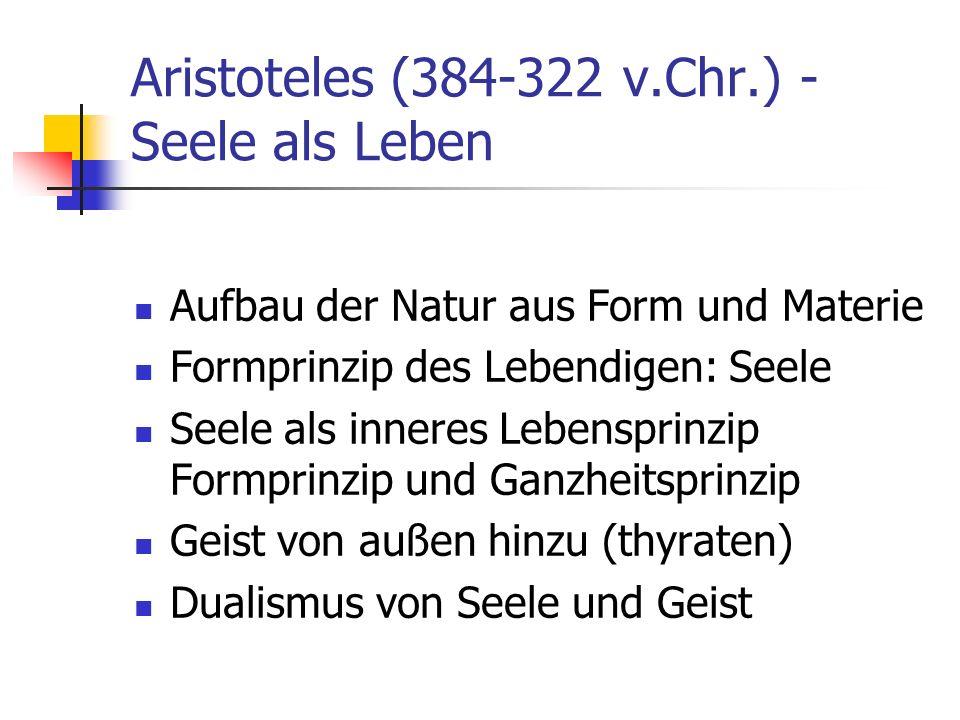 Aristoteles (384-322 v.Chr.) - Seele als Leben