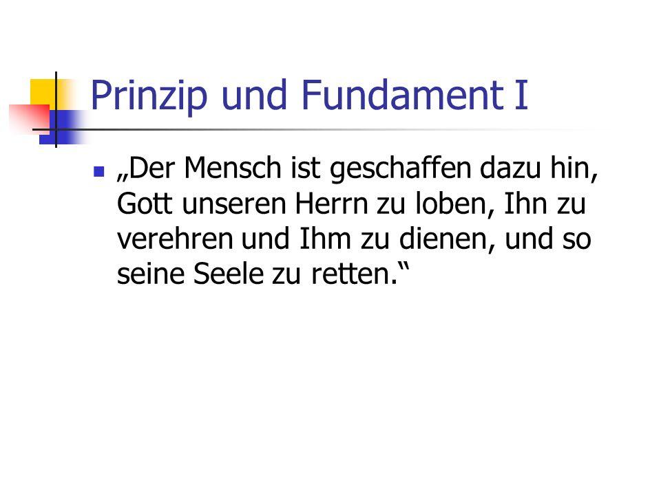 Prinzip und Fundament I