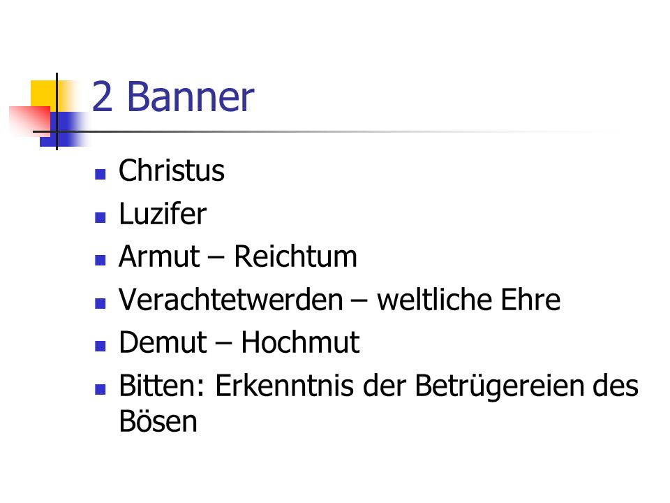 2 Banner Christus Luzifer Armut – Reichtum