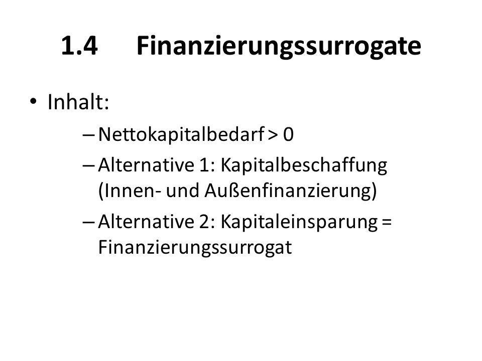 1.4 Finanzierungssurrogate