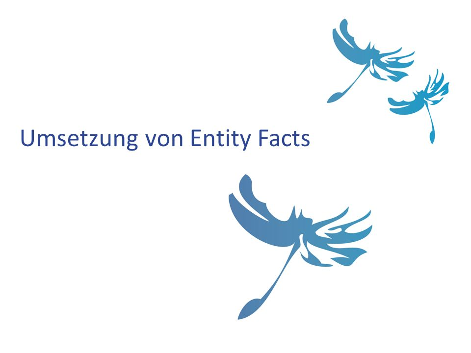Umsetzung von Entity Facts