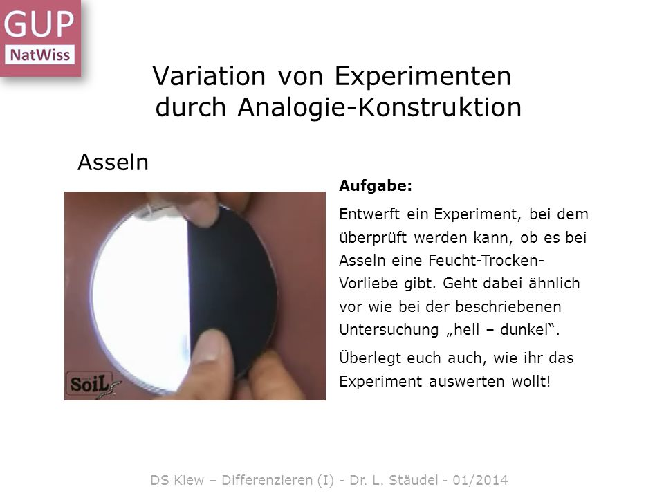 Variation von Experimenten durch Analogie-Konstruktion