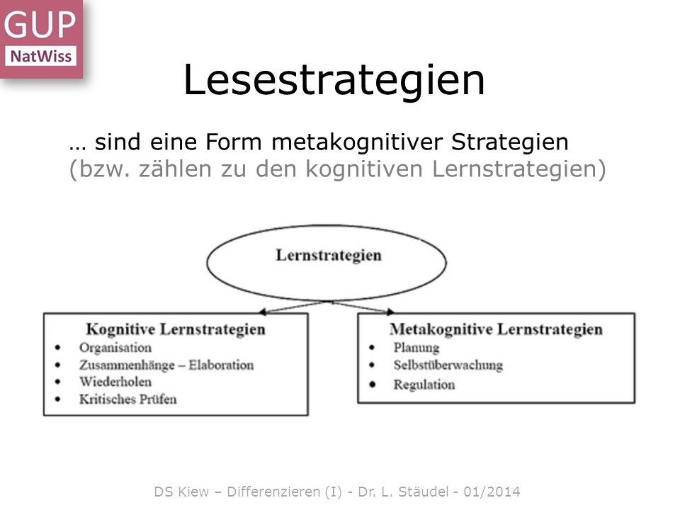 DS Kiew – Differenzieren (I) - Dr. L. Stäudel - 01/2014