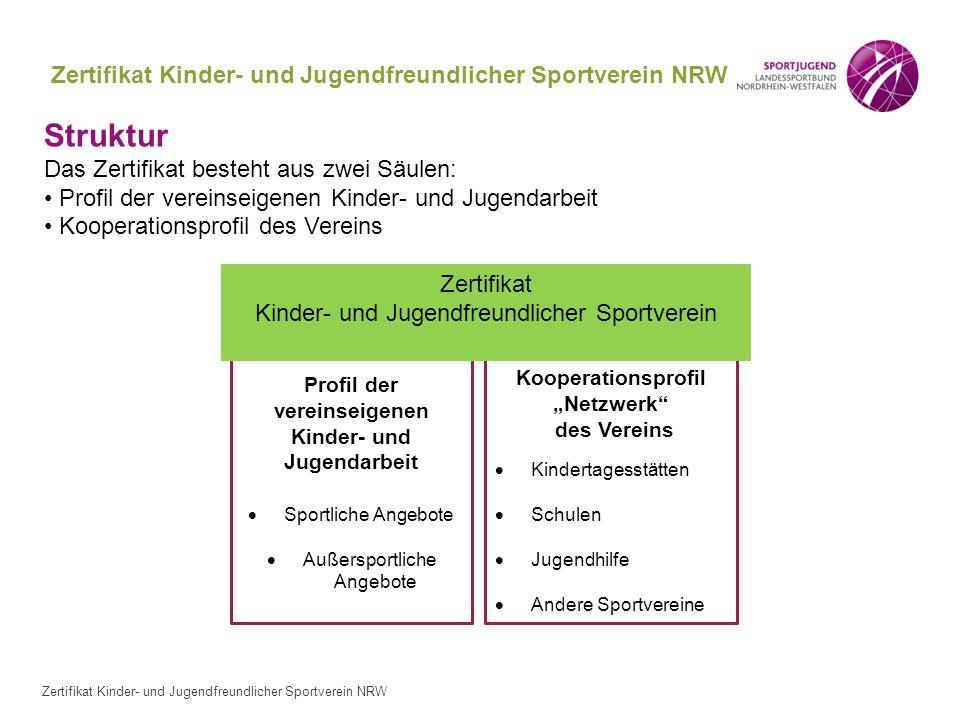 Zertifikat Kinder- und Jugendfreundlicher Sportverein NRW