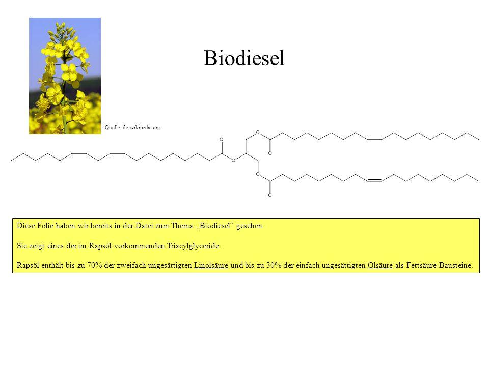 """Biodiesel Quelle: de.wikipedia.org. Diese Folie haben wir bereits in der Datei zum Thema """"Biodiesel gesehen."""