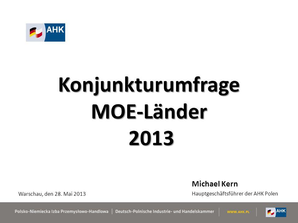 Konjunkturumfrage MOE-Länder 2013