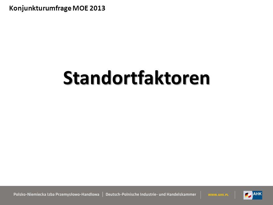 Standortfaktoren Konjunkturumfrage MOE 2013