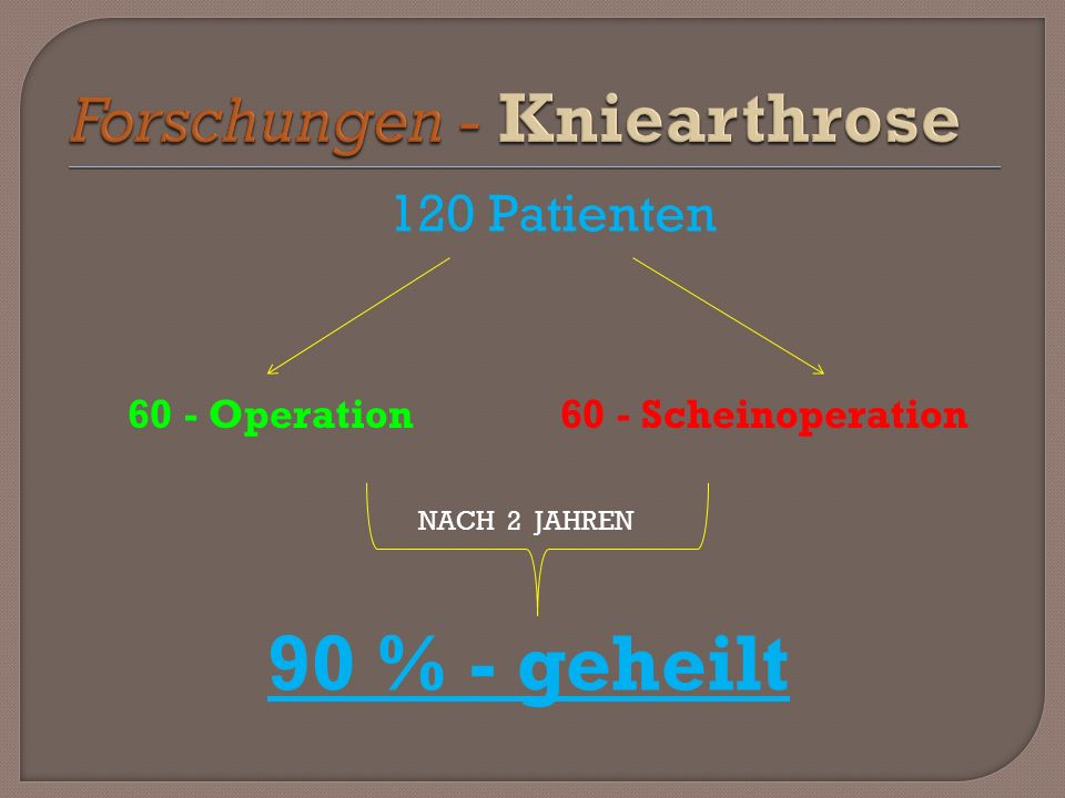 Forschungen - Kniearthrose