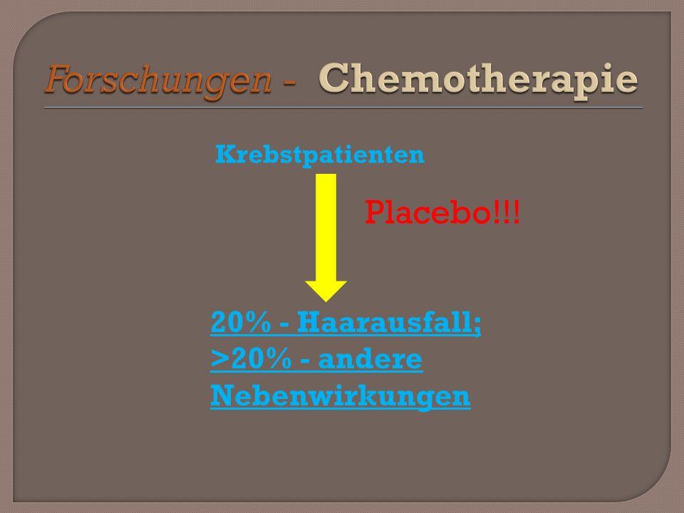 Forschungen - Chemotherapie