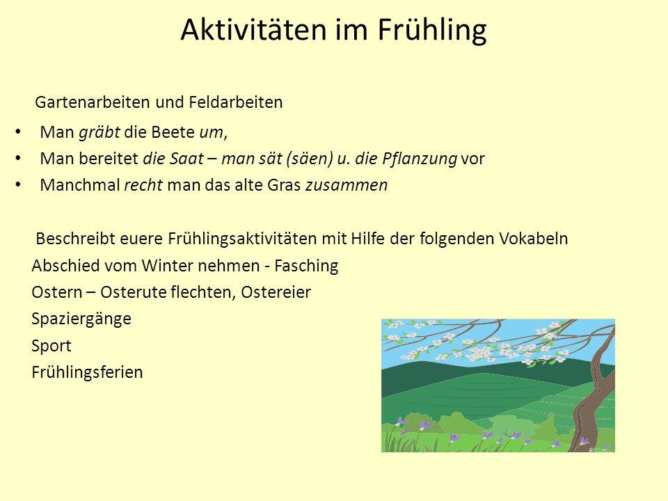 Aktivitäten im Frühling
