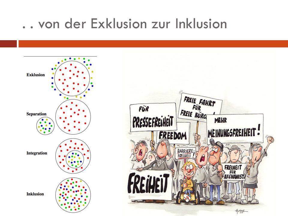 . . von der Exklusion zur Inklusion