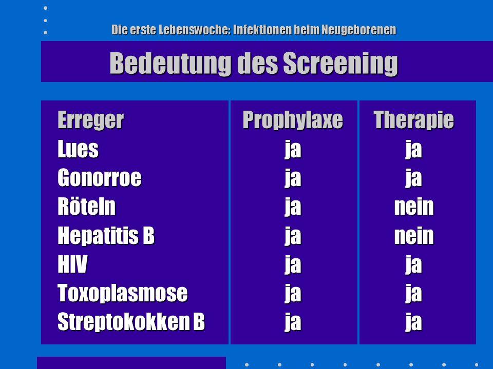 Erreger Lues Gonorroe Röteln Hepatitis B HIV Toxoplasmose