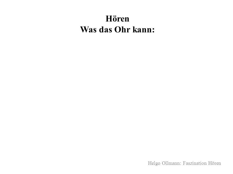 Hören Was das Ohr kann: Helgo Ollmann: Faszination Hören