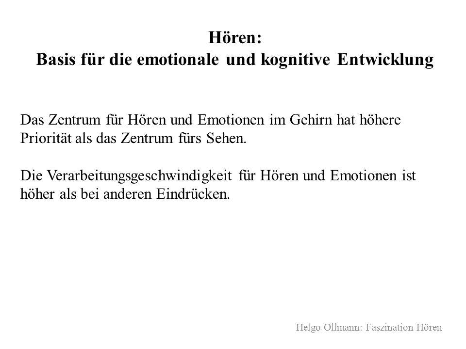 Hören: Basis für die emotionale und kognitive Entwicklung