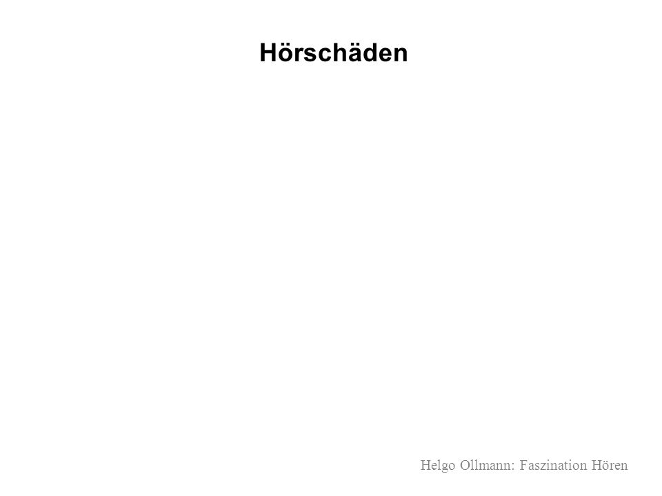 Hörschäden Helgo Ollmann: Faszination Hören