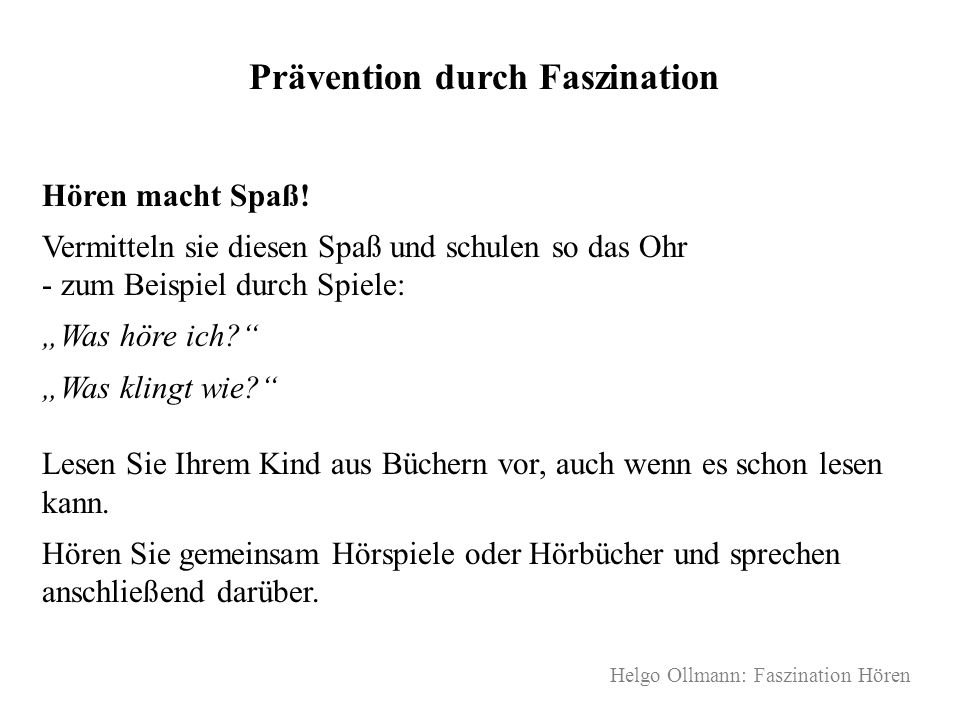 Prävention durch Faszination