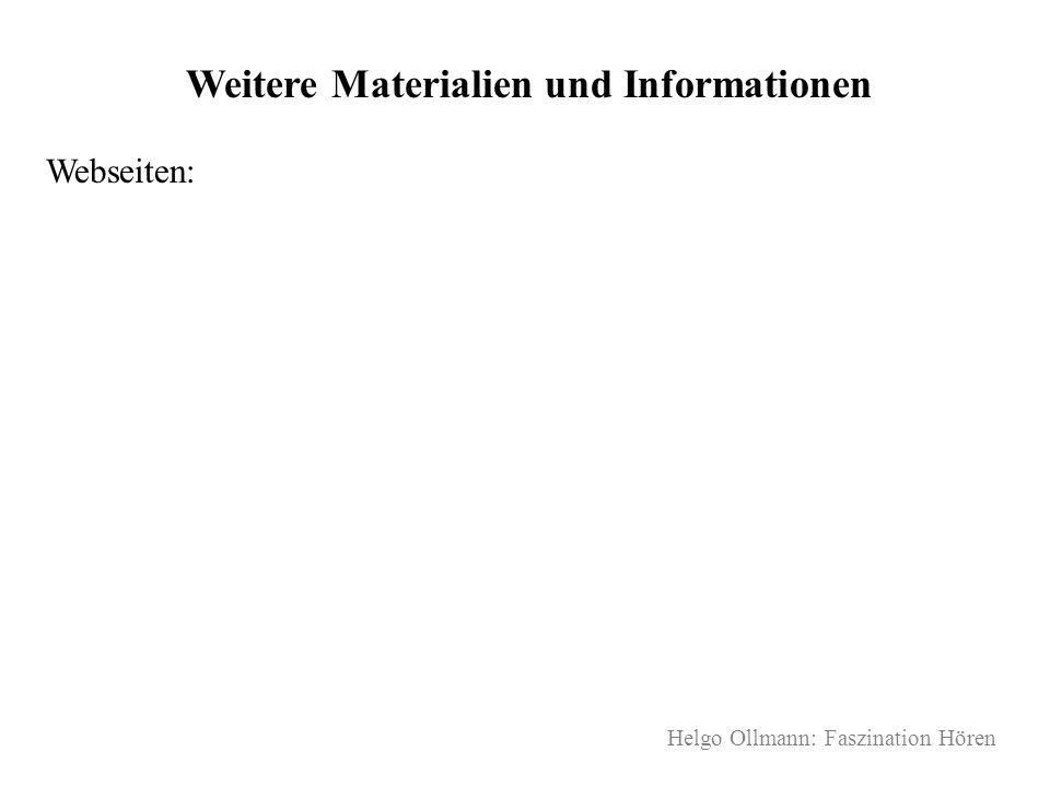 Weitere Materialien und Informationen