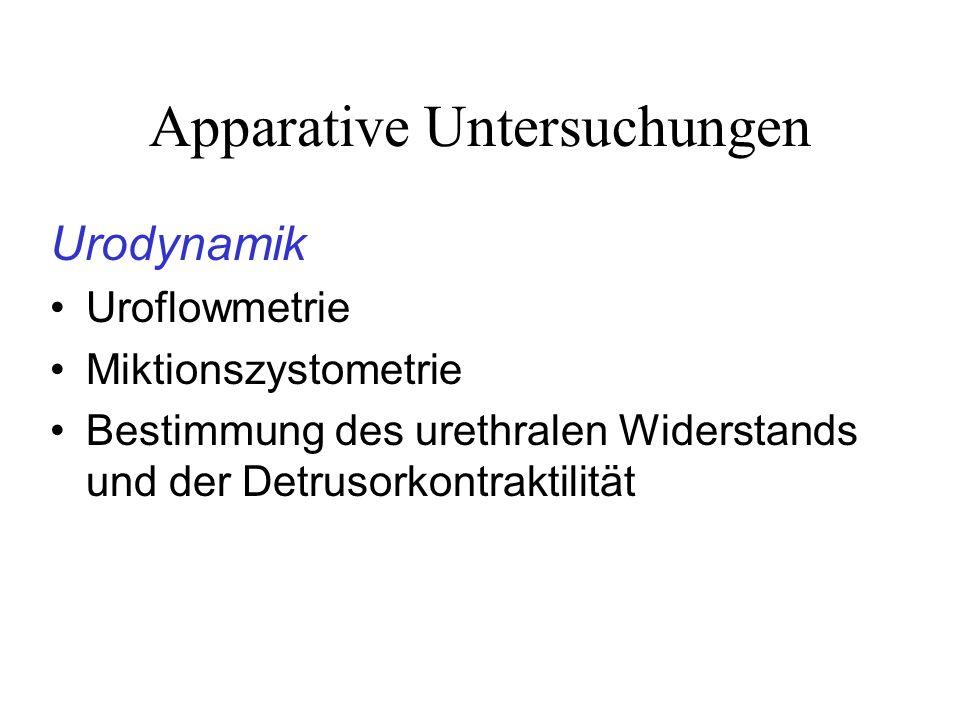 Apparative Untersuchungen