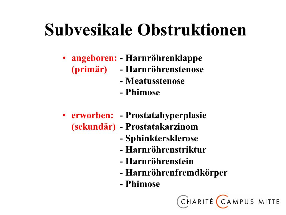 Subvesikale Obstruktionen