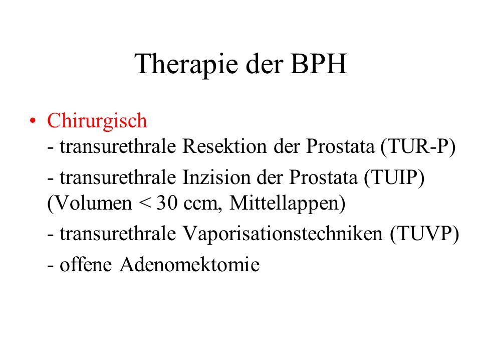Therapie der BPH Chirurgisch - transurethrale Resektion der Prostata (TUR-P)