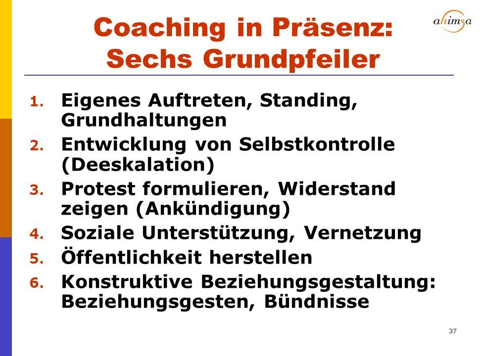 Coaching in Präsenz: Sechs Grundpfeiler