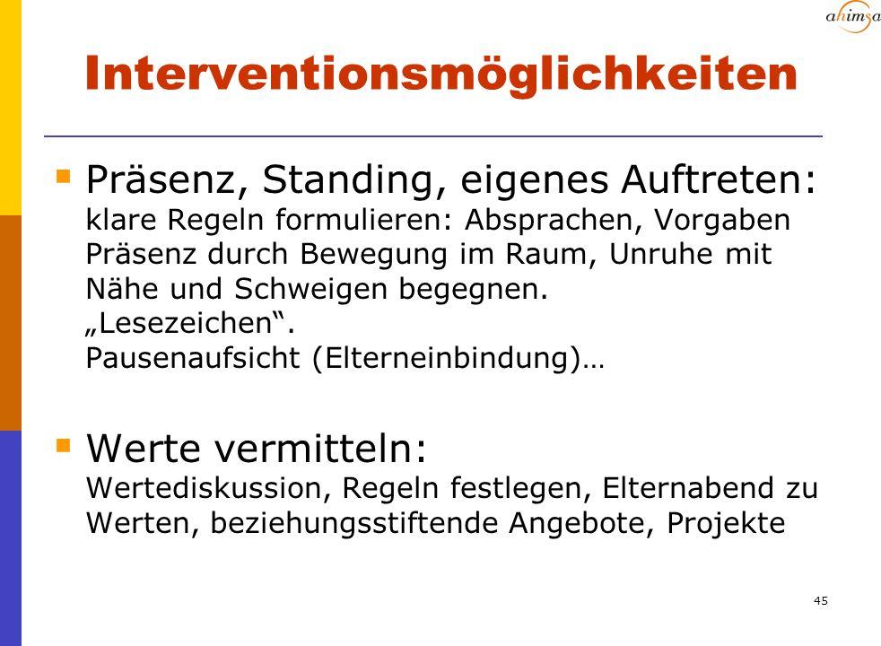 Interventionsmöglichkeiten