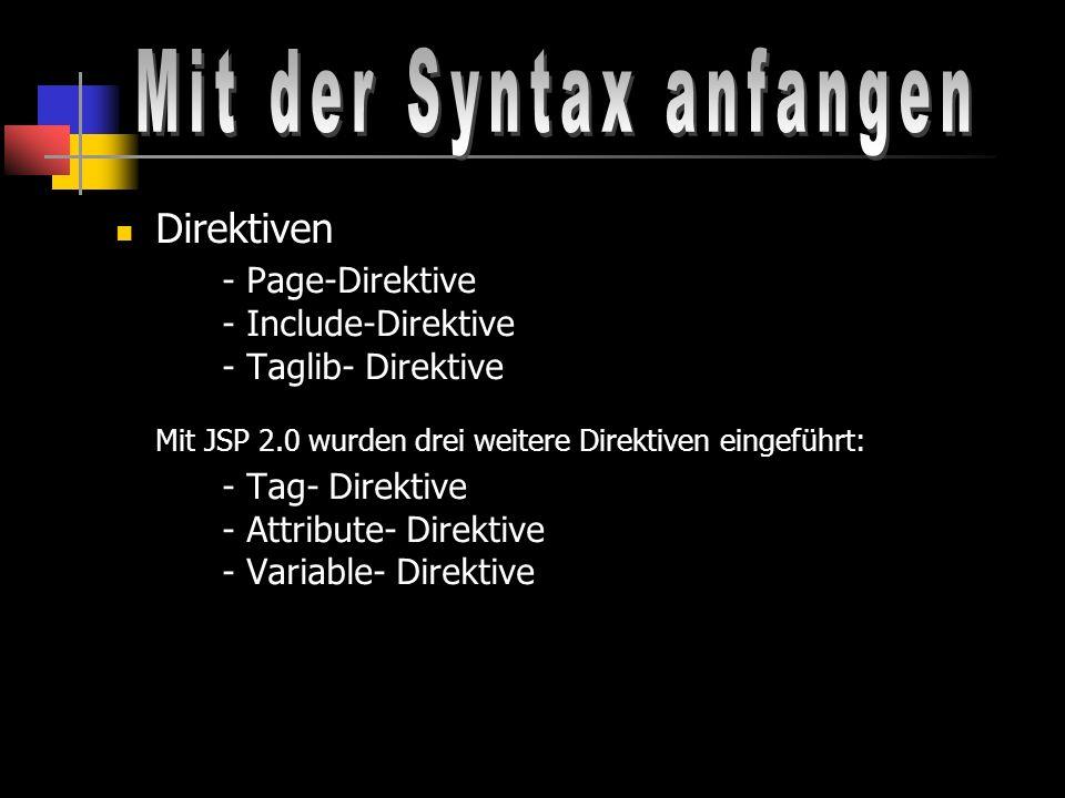 Mit der Syntax anfangen