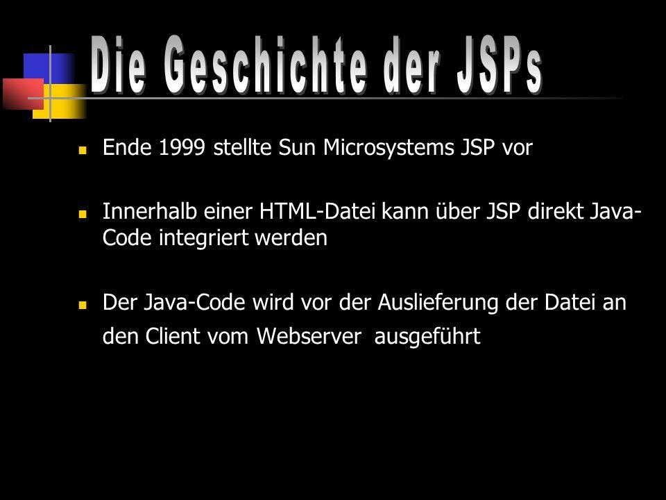 Die Geschichte der JSPs