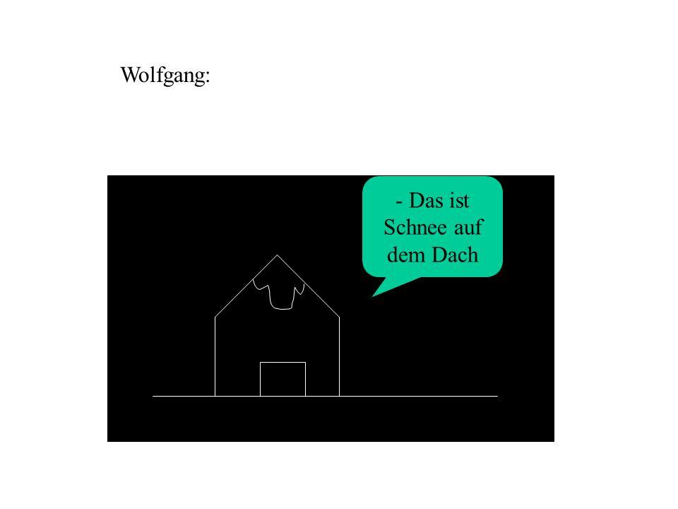 Wolfgang: - Das ist Schnee auf dem Dach