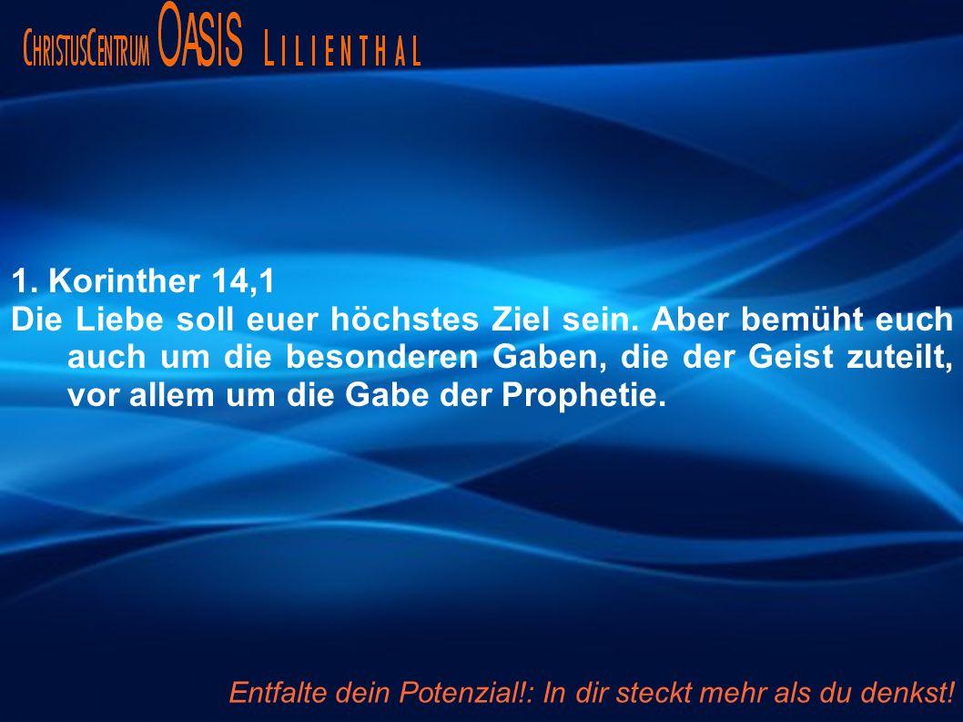 1. Korinther 14,1