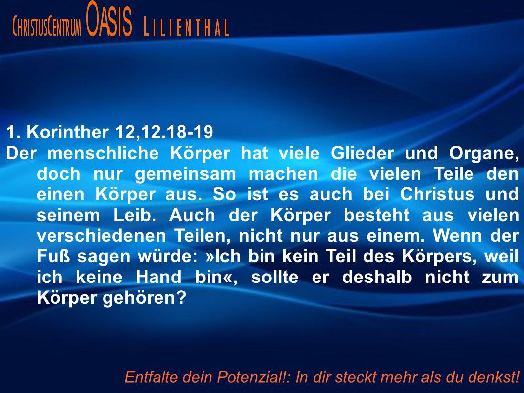 1. Korinther 12,12.18-19