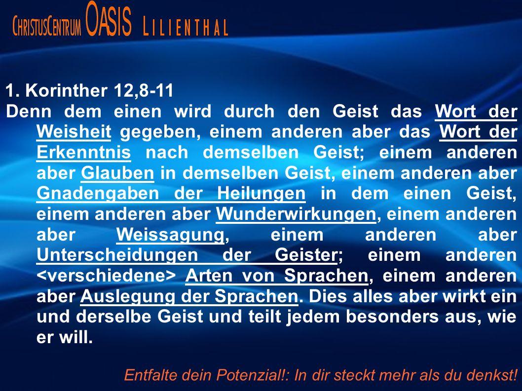1. Korinther 12,8-11