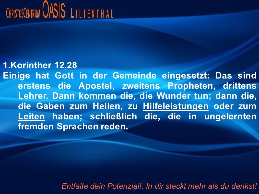 1.Korinther 12,28