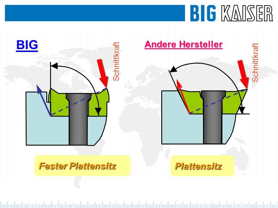 BIG Andere Hersteller Fester Plattensitz Plattensitz Schnittkraft