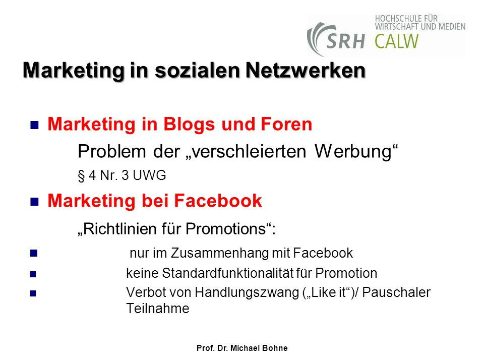 Marketing in sozialen Netzwerken