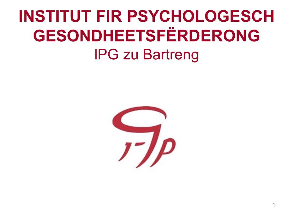 INSTITUT FIR PSYCHOLOGESCH GESONDHEETSFËRDERONG IPG zu Bartreng