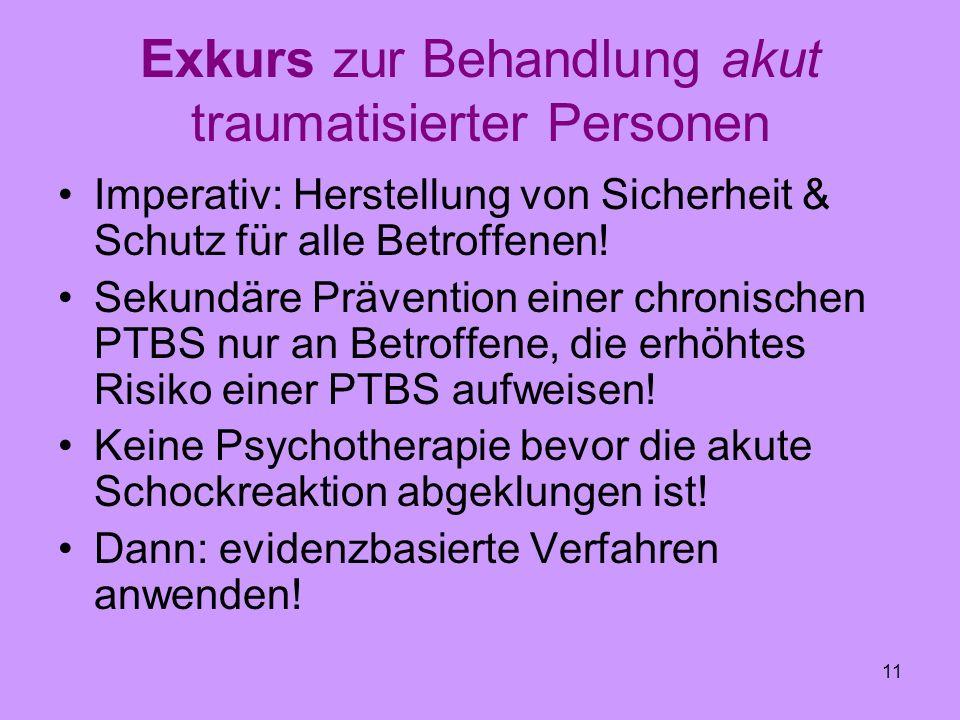 Exkurs zur Behandlung akut traumatisierter Personen