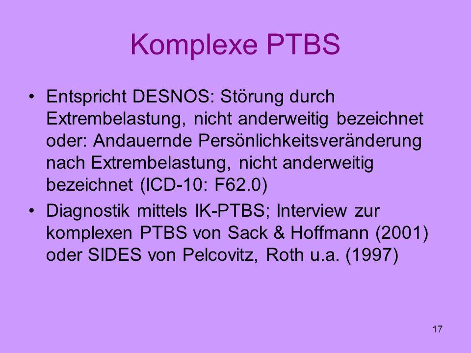 Komplexe PTBS