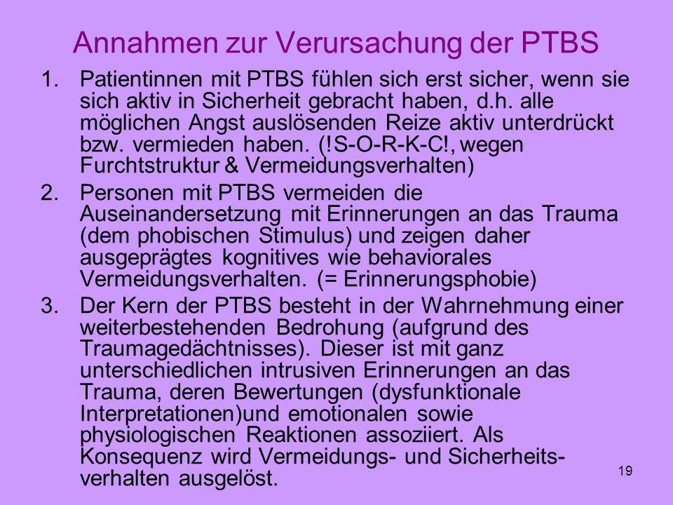 Annahmen zur Verursachung der PTBS