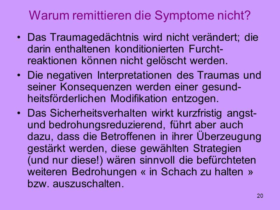 Warum remittieren die Symptome nicht