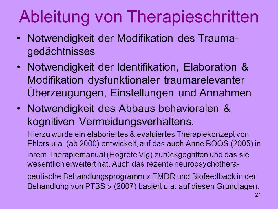 Ableitung von Therapieschritten
